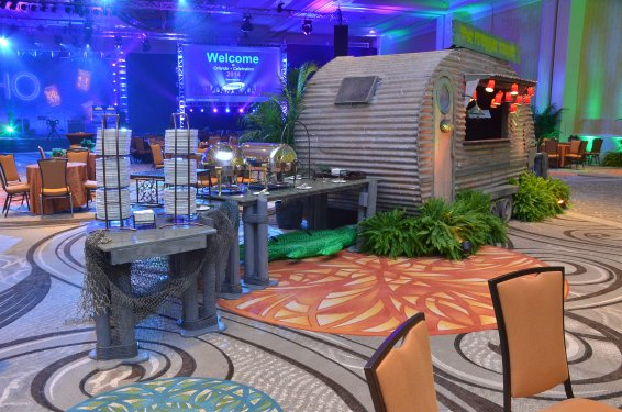 Blue Spark Event Design - Florida Swamp Theme