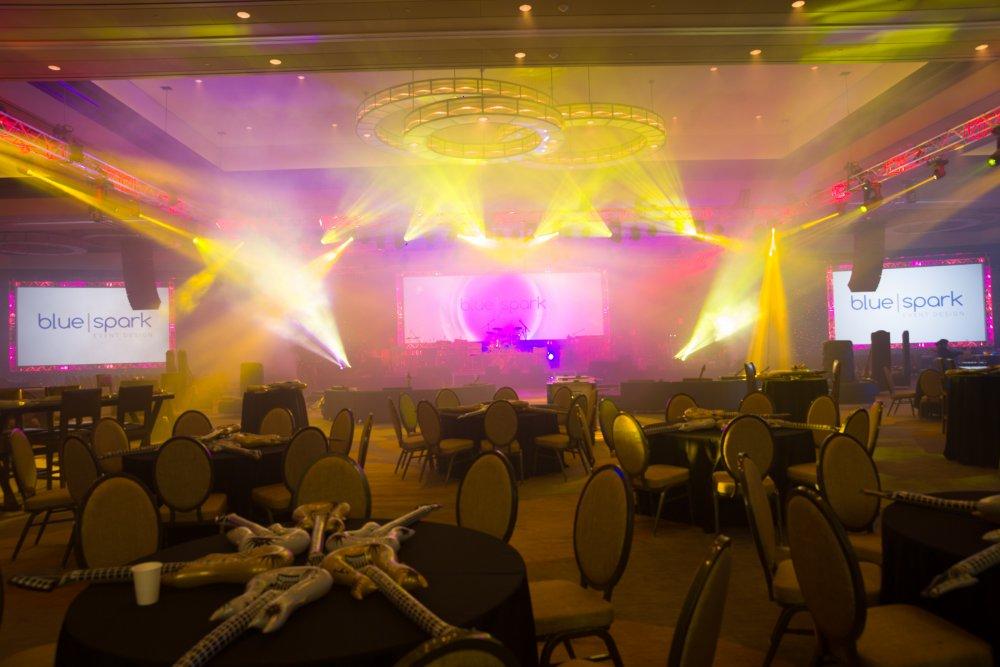 Blue Spark Event Design - General Session, lighting, haze
