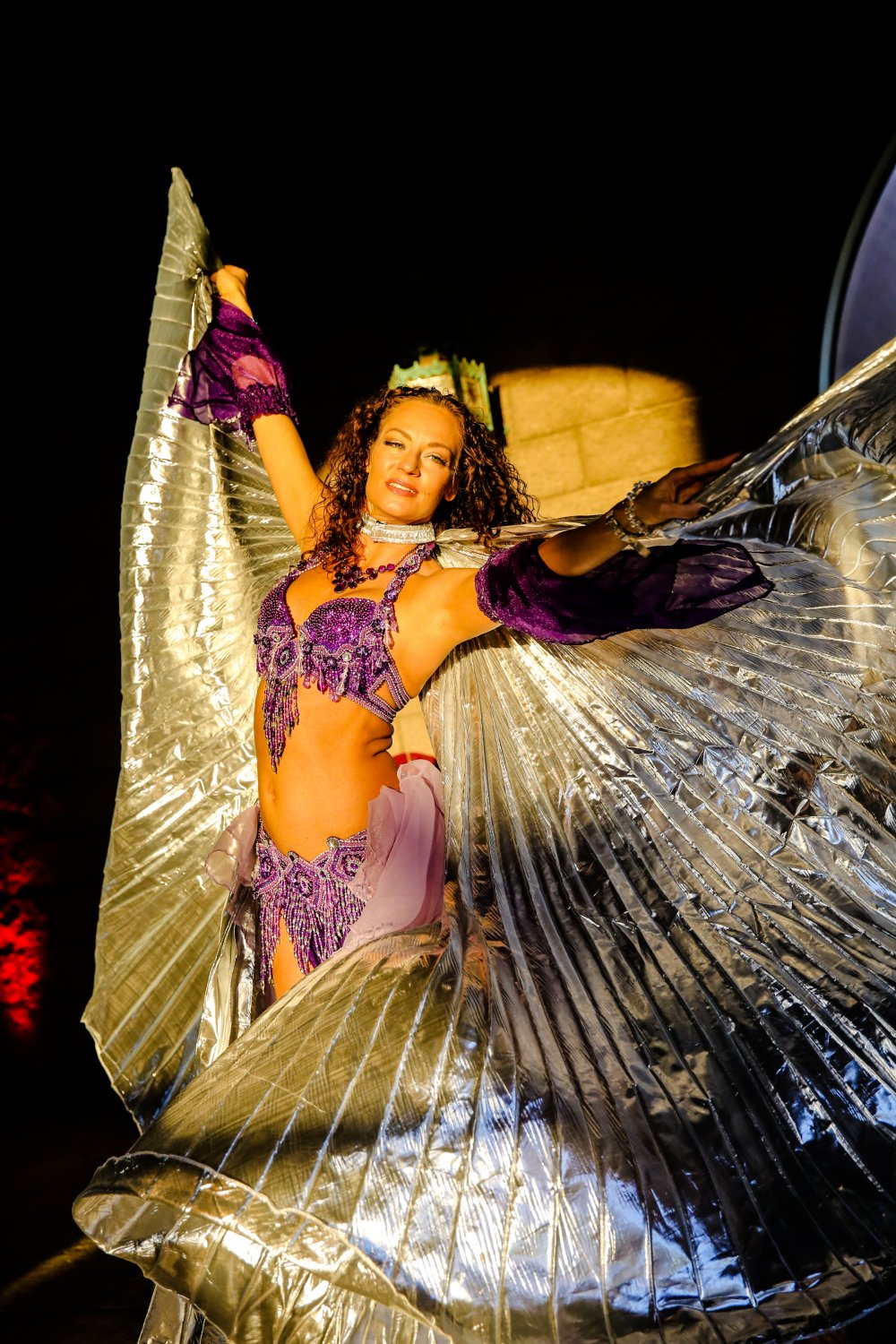 Blue Spark - belly dancer performer - Los Cedros Arizona - private corporate event