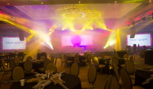 Blue Spark Event Design - General Session, lighting, haze