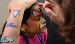 Blue Spark - Face Painting - AT&T Stadium.JPG